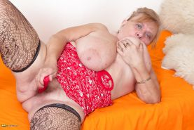 Old BBW granny with HUGE saggy tits PART 1