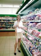 Nude in Supermarket or Store 2