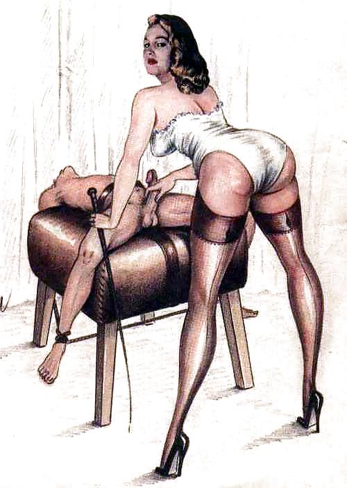 Erotic Vintage Drawings #32962614