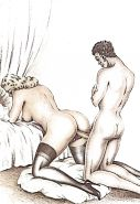 Erotic Vintage Drawings #32962630