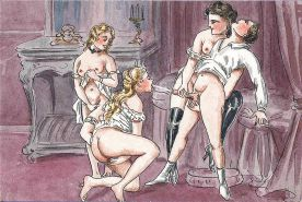 Erotic Vintage Drawings #32962651