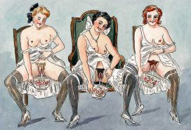 Erotic Vintage Drawings #32962655