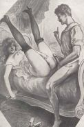 Erotic Vintage Drawings #32962678