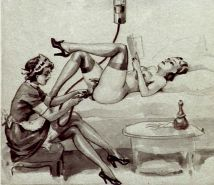 Erotic Vintage Drawings #32962707