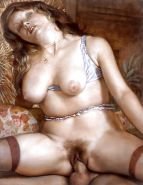 Erotic Vintage Drawings #32962732