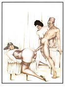 Erotic Vintage Drawings #32962777