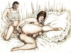 Erotic Vintage Drawings #32962807