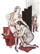 Erotic Vintage Drawings #32962815