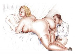 Erotic Vintage Drawings #32962846