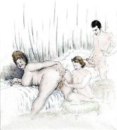 Erotic Vintage Drawings #32962870