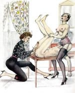 Erotic Vintage Drawings #32962894