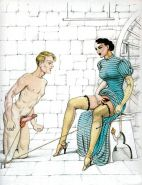 Erotic Vintage Drawings #32962896