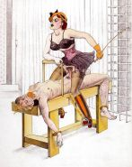 Erotic Vintage Drawings #32962899