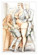 Erotic Vintage Drawings #32962928