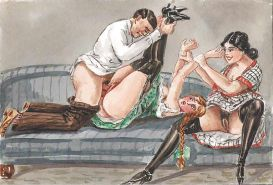 Erotic Vintage Drawings #32962931