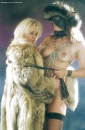 Lesbian Bdsm Femdom and Slave Chain's Leather Nylons Furs