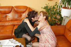 Old and Young Perfect Lesbian Threesome PART 1