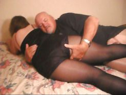 Pantyhose Wife With Older Biker 1