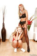 Seductive gals make some lesbian action using their sex toys