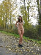 Young rus girl nudity in public