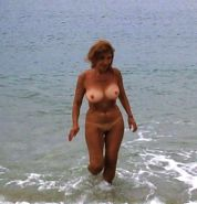 Mature naked in public