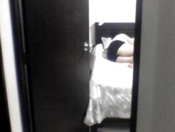 My mother in law taking a nap at ranch and her panties