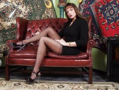 Stern German lady vintage nylons