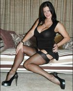 Seamed Stockings with Cuban Heels