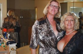Lesbian Action! (Two Alluring Grannies GILF) #28522877
