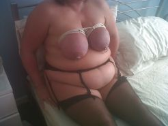 Scottish slut endures tit torture but loves it !
