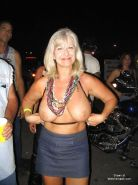 Amateur matures out and about with their tits hanging out 6