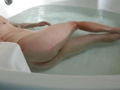 Bath tub naked voyeur