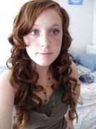 Cute Redhead Teen with curls