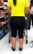 THICK Cuban Ass Latina MILF in tights! VOYEUR NICE FATTY