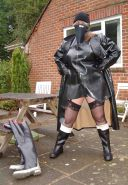BBW mature and femdom pvc latex leather strapon 01 #38573575