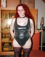 BBW mature and femdom pvc latex leather strapon 01 #38573595