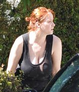 Christina Hendricks without BRA - Nipples and Big Boobs