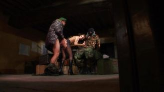 Soldiers fucking sluts. Anal, military, army, boots.