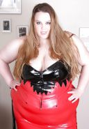 BBW mature femdom pvc latex leather strapon  08