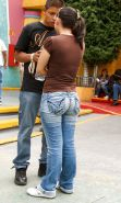 Voyeur of Latina Chick at La Feria Chapultepec Magico