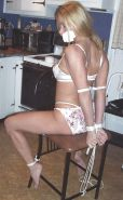 Babes in white panties all tied up.3