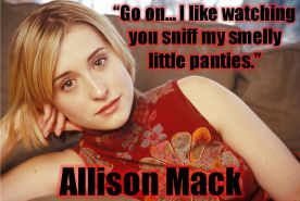 Sniff Allison Mack's smelly little panties