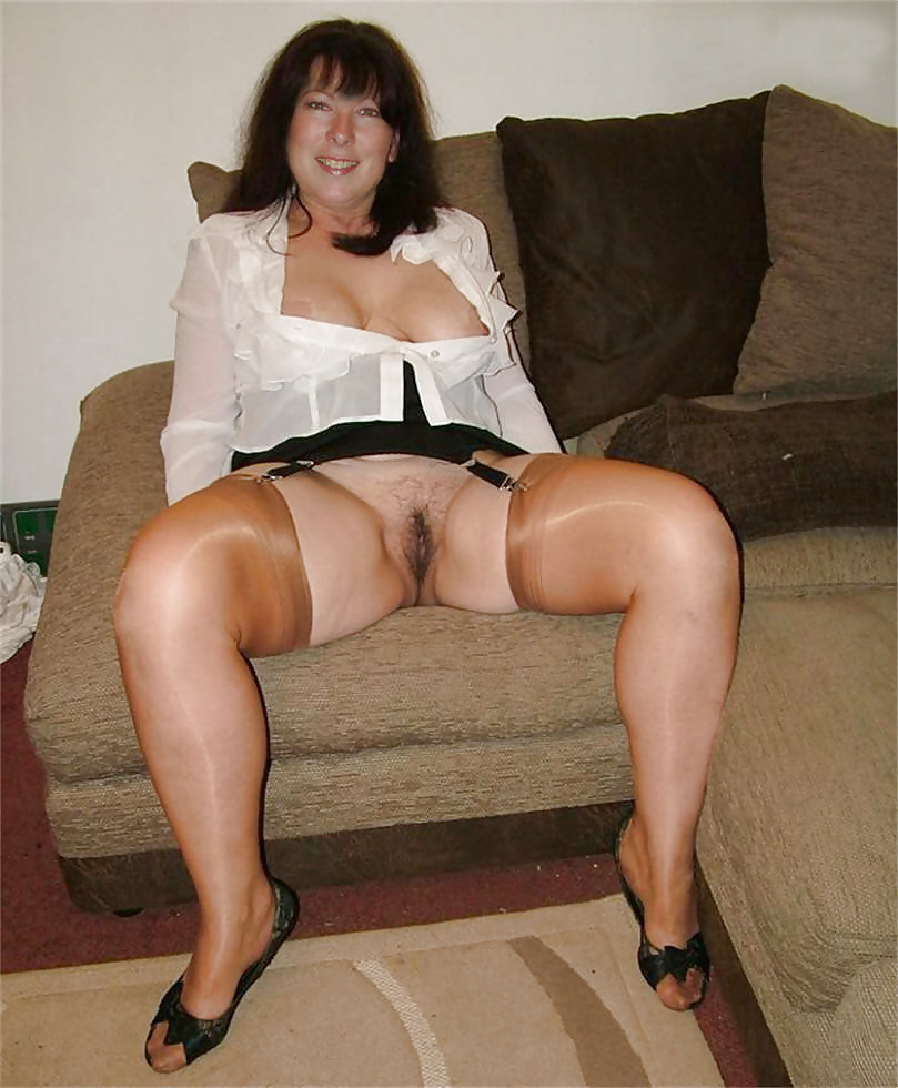 Upskirt hairy pussy and stockings #30499311