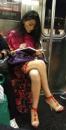 Voyeur nyc subway sexy asian