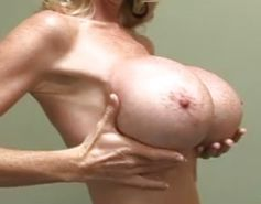 Morgan Leigh Shows Off Her Big Fake Tits