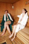 Mature mothers in shower and sauna PART 1