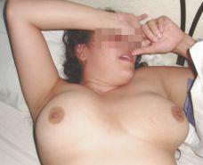Big tit girl and cum con tits