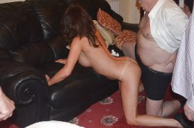 Young wife doggy with old man