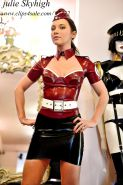 Julie skyhigh fitting latex leggings,skirt, top atsuko kudo