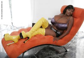 Miosotis Claribel Huge Black Tits Wearing Yellow Boots